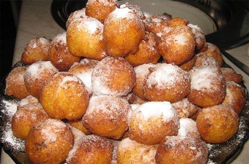 пончики из творога и молока рецепт